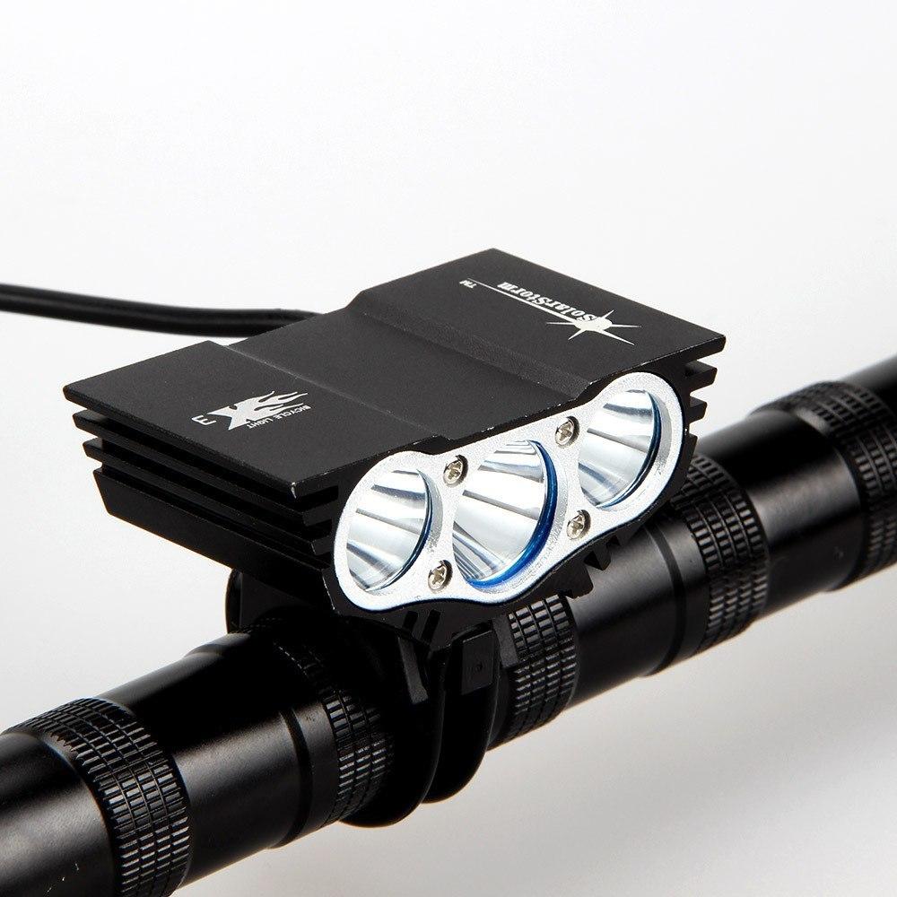 Очень яркий фонарик для велосипеда с аккумулятором -