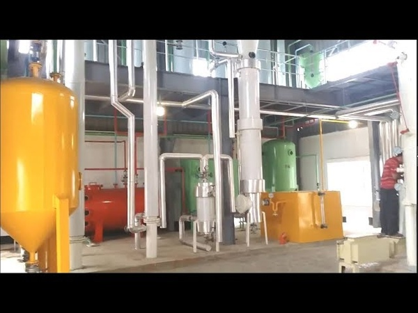 Rice Bran Oil Processing line HD video of full plant
