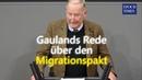 """AfD bringt den Migrationspakt in den Bundestag - Gauland """"Für wie dumm halten Sie uns"""""""