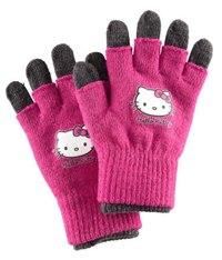 Перчатки Hello Kitty.Двойные:на обычные печатки одеваются перчатки без пальчиков.С люрексом.