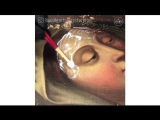 Cleaning and Restoring Old Damaged Paintings by Julian Baumgartner