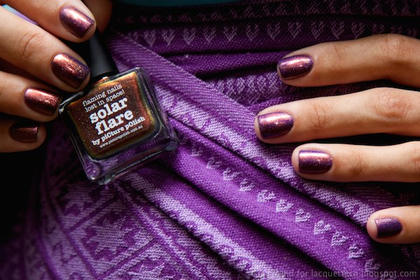 Picture Polish Solar Flare over Amethyst nail polish manicure