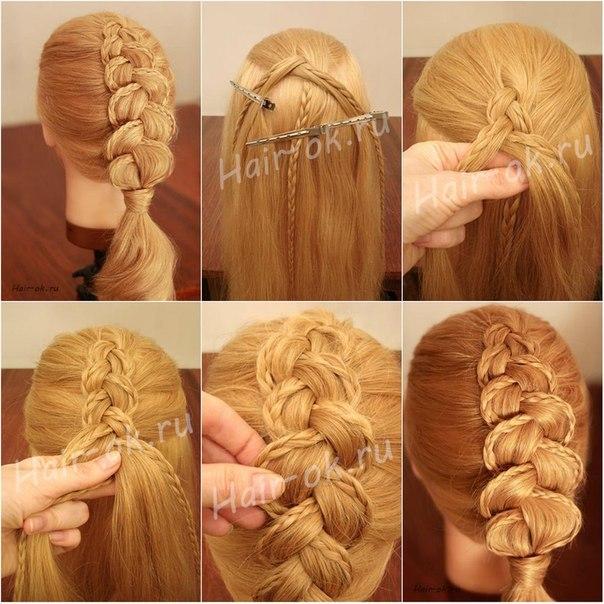 Прическа на каждый день на длинные волосы дома своими руками