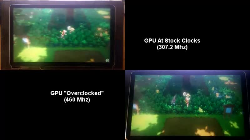 Nintendo Switch GPU Overclock by @m4xwdev helps getting better performance in many differe