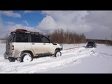Мини Покатушка по снегу на УАЗ Патриот и Mazda B-series