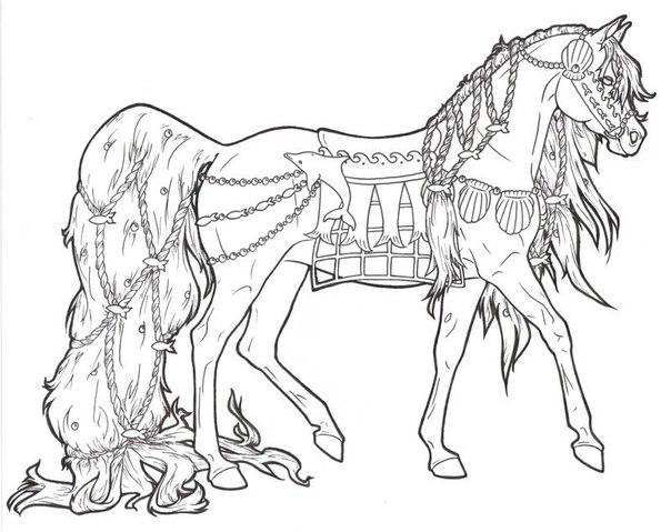 Раскраска лошади онлайн