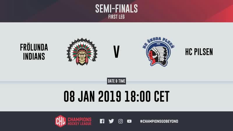 CHL | Frolunda VS HC Pilsen | Game 1 | 08.01.19