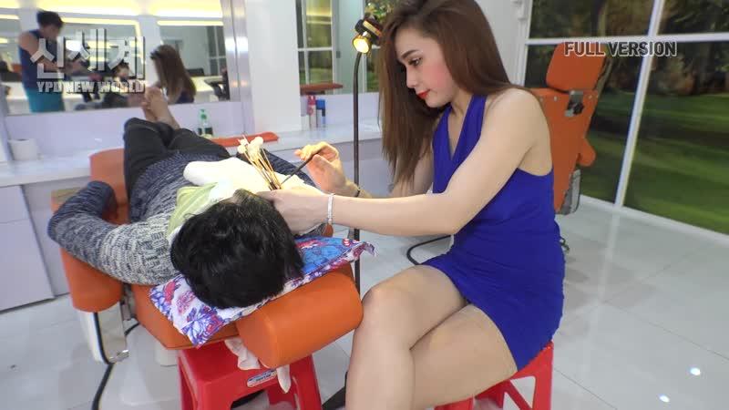 Массаж. АСМР. Барбер-шоп с девушкой. Вьетнам. FULL VERSION massage ASMR 1080p HD