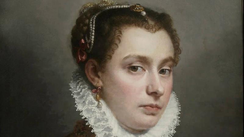 Portrait of a Young Woman, Giovanni Battista Moroni, c. 1564--70