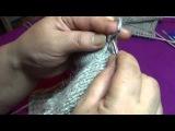 Как связать носки на 2х спицах часть 3
