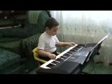 Одинокий пастух на синтезаторе. Булату 9 лет