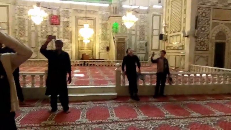 Arbaeen 2018 Video 42 View of yazeed LA Darbar reality of 8 Azans given in his darbar