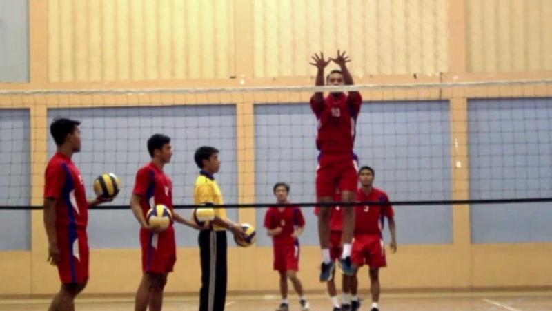 Smash volleyball drill