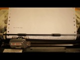 Музыка на матричном принтере