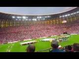 Mazurek Dąbrowskiego w wykonaniu kibiców przed meczem Polska - Holandia! 01.06.2016