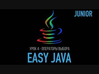 Easy Java – Junior - Урок 4 – Управляющие операторы – операторы выбора