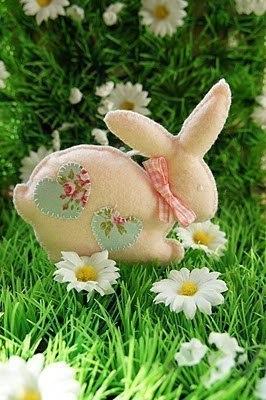Шьём из фетра. Пасхальный кролик. (5 фото) - картинка