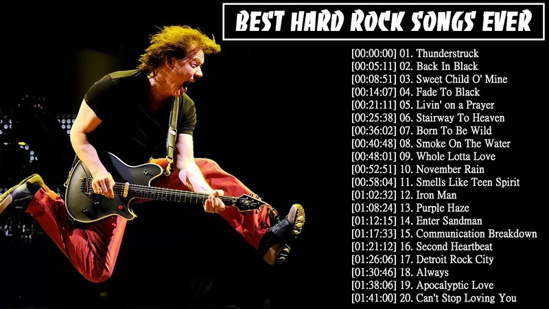 Top 100 Greatest Hard Rock Songs Hits All Time   Best Hard Rock Songs Of The 70's 80's 90's