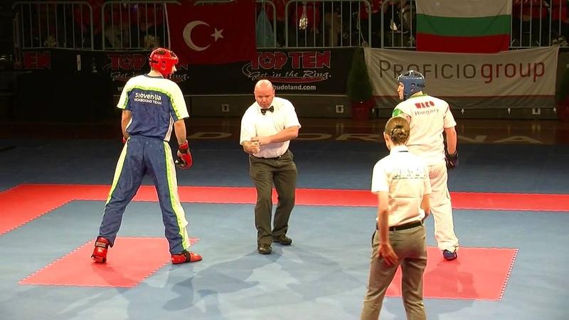 Admir Sinanbegovic (SLO) v Krisztian Jaroskievicz (HUN) WAKO European Championships 2014