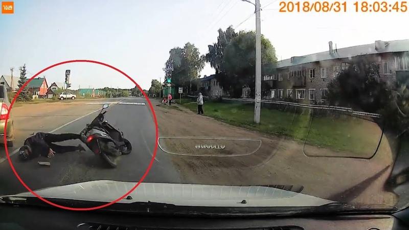 В Башкирии скутерист серьезно пострадал столкнувшись с машиной