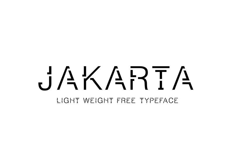 JAKARTA шрифт скачать бесплатно