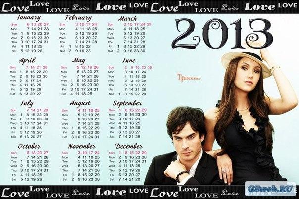 DataLife Engine Версия для печати Календарь 2013-2014 год - The Vampire Diaries (Дневники вампира) .