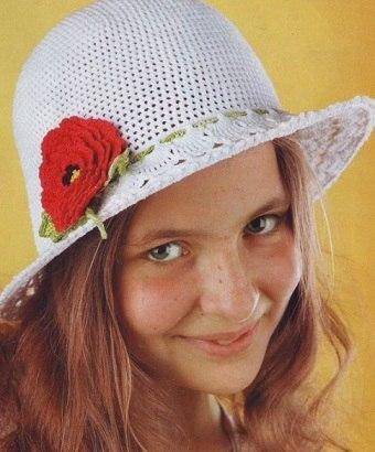 Летняя шляпка крючком (3 фото) - картинка