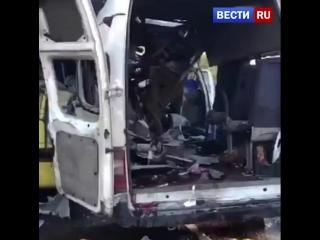 СК опубликовал видео с места гибели 13 человек в аварии под Тверью