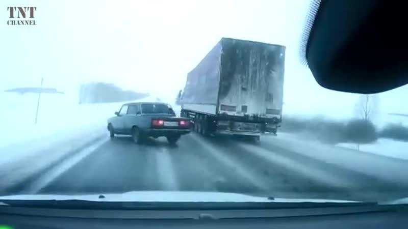 Жесть на зимних дорогах