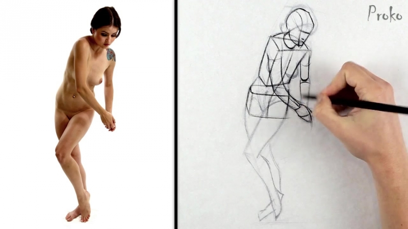 Proko Figure drawing fundamentals - 09 Exaggeration - how-to-draw-exaggerated-poses-premium-720p