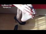Gorgeous woman exhibiting her incredible feet in nylon (Ножки, Фетиш, Фут, Foot, Fetish, Чулки, Legs, Секси)