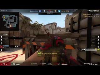s1mple ACE | clutch 1vs3 | Navi vs Renegades | DreamHack Masters Las Vegas 2017