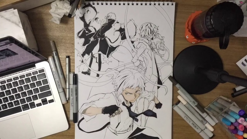 Bungou Stray Dogs Speed Drawing