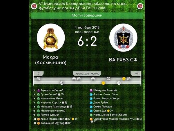 Искра - ВА РХБЗ СФ 6:2 V Чемпионат Костромской области по мини-футболу (04.11.18)