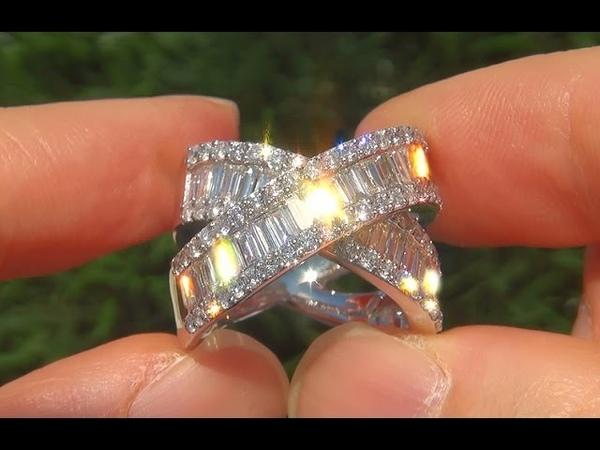 Estate VS2 Natural Diamond 14k White Gold Cocktail Anniversary Ring - A141019