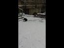 Мои малявочки веселяться у нас снег