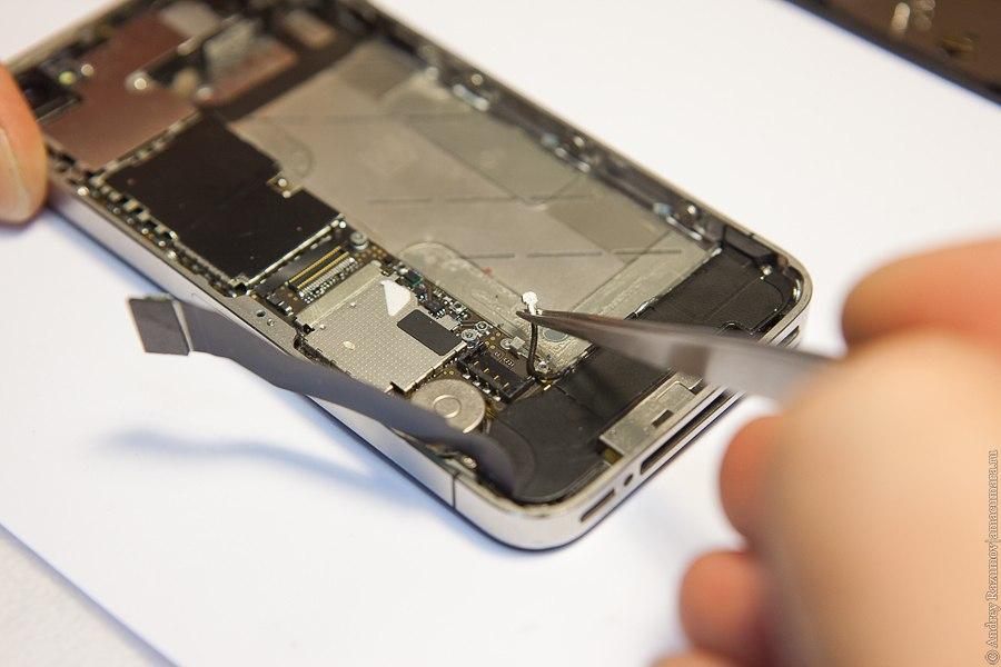 ремонт Apple замена стекла сервис антенны iPhone 4S