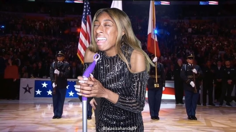 """LaLa: Free Medicinal Laughter on Instagram: """"Please stand for the NBA ALL-STAR NATIONAL ANTHEM with LaFergie nba allstar @fergie fergie allsta..."""