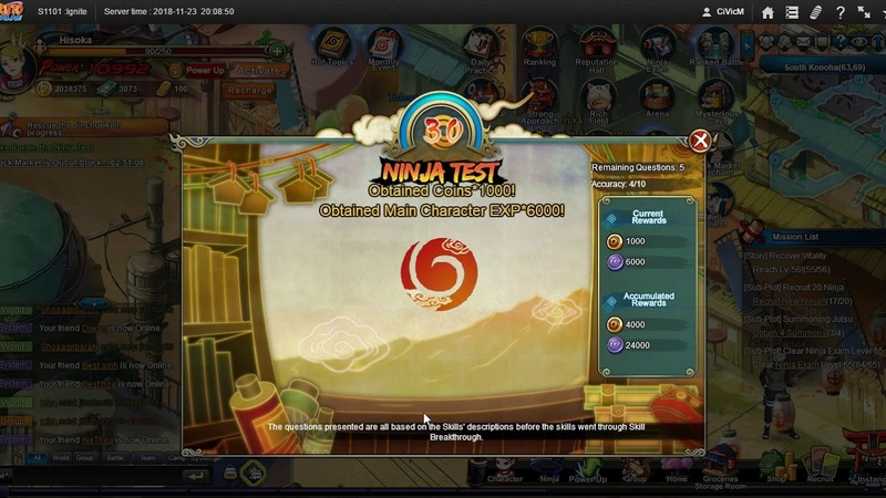Naruto ナルト Online NS D11 2nd 10 RAs for NT