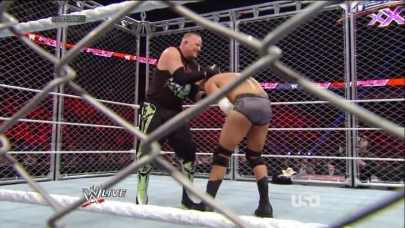 New Age Outlaws Vs Cody Rhodes Goldust WWE Tag Team Championships Tag Team Steel Cage Match RAW 03 02 2014