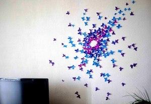 Бабочки своими руками на стену из цветной бумаги