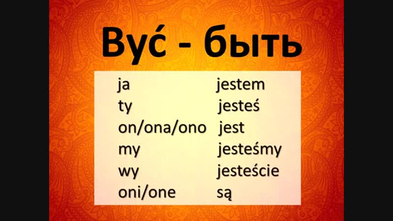 Спряжение польских глаголов