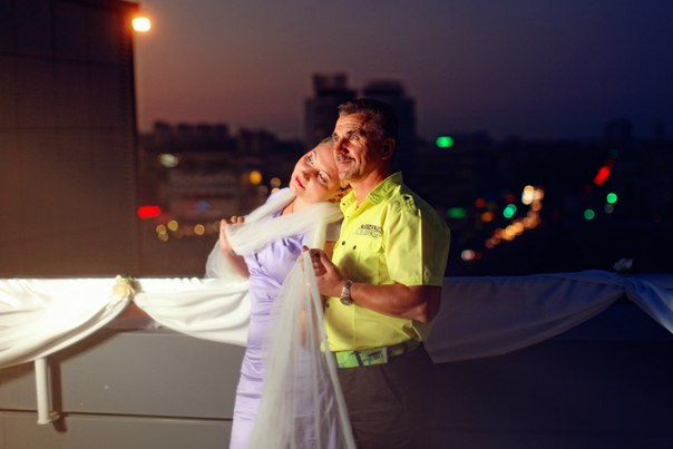 романтический вечер на крыше