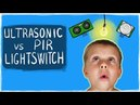 ULTRASONIC VS PYROELECTRIC HUMAN DETECTION PIR AUTOMATIC LIGHT SWITCH HOW TO