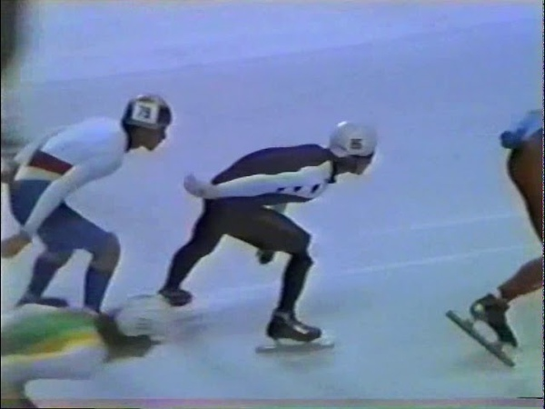 WK Short Track Speedskating - MONTREAL 1987 -D1-part 2