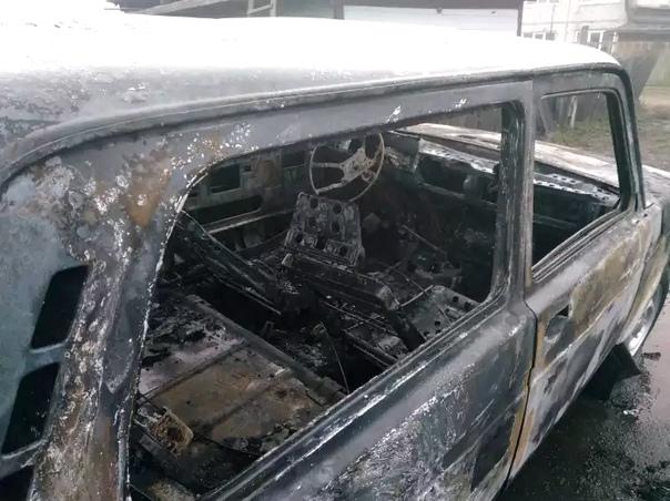 В посёлке Невон сожгли «Ниву»