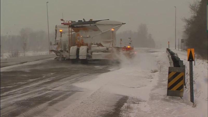 Tow plows in action