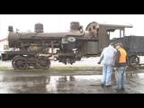 Oregon Coast Scenic Railroad Heisler delivery April 2015