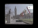 1990s Westminster, Parliament Square, Big Ben, London in HD