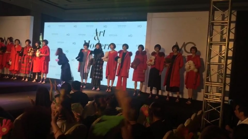The fashion show in Chengdu in china